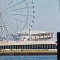 Photos: クルーズ名古屋(2019年5月)No - 131:中川口通船門から見たシートレイランドの観覧車と名古屋港水族館