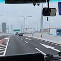 走行中の高速バス車内から見た名古屋高速 - 1