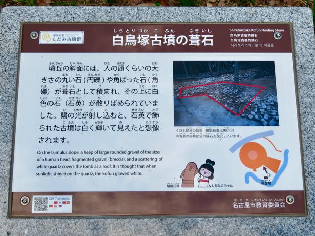志段味古墳群 白鳥塚古墳 No - 50:葺石(ふきいし)の説明