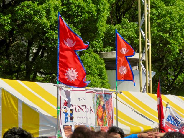 Photos: ネパールフェスティバル名古屋 2019 No - 26:ネパール国旗
