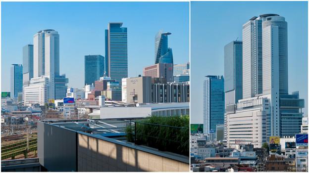 グローバルゲート最上階から見た名駅ビル群 - 5:セントラルタワーズ