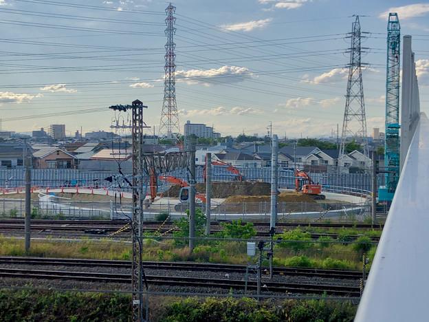 JR中央線 神領車両区近くの工事現場(2019年6月24日)No  - 6
