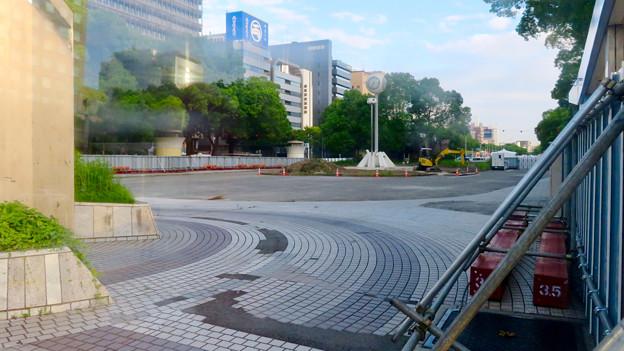 リニューアル工事中の久屋大通公園(2019年7月7日) - 3:旧・栄バスターミナル
