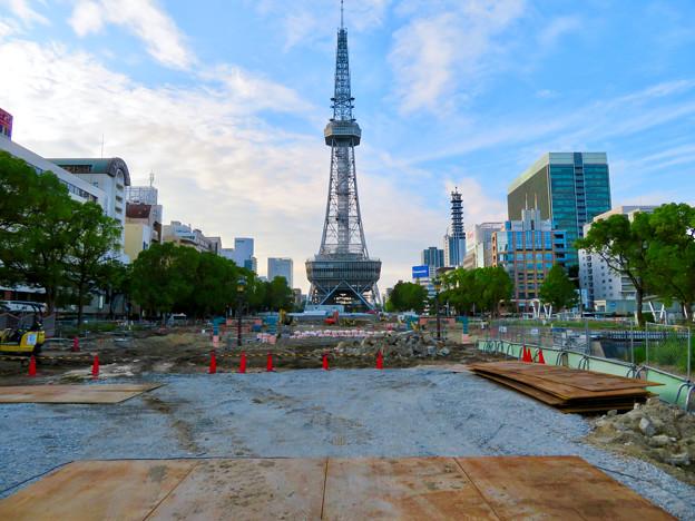 リニューアル工事中の久屋大通公園(2019年7月7日) - 7