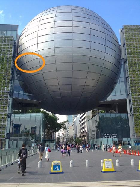 名古屋市科学館に展示中の「小牧隕石」 - 20:外から見た展示室の場所