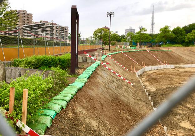桃花台線の桃花台中央公園南側撤去工事(2019年7月13日) - 8