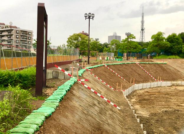 桃花台線の桃花台中央公園南側撤去工事(2019年7月13日) - 9