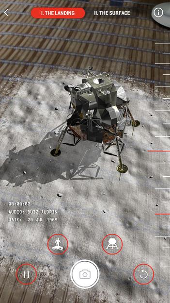 月面着陸をAR&VRで体験できるアプリ「TIME Immersive」- 3