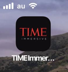 月面着陸をAR&VRで体験できるアプリ「TIME Immersive」- 15:ホーム画面アイコン
