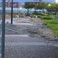 Photos: 桃花台線の桃花台中央公園南側撤去工事(2019年7月26日):より良くしようとしない愛知県が不便な歩道を復元 - 4