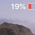 Photos: iOS12:残量20%以下の時は電池アイコンが緑にならず右端に充電中のマーク - 2