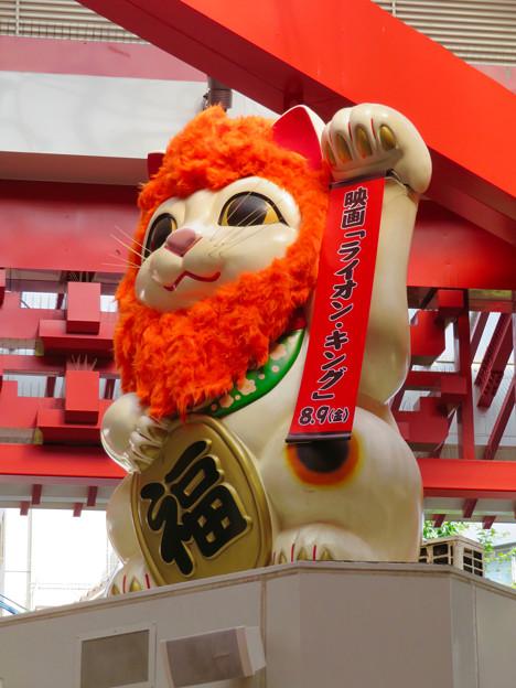 大須商店街:映画「ライオンキング」PRのためライオンになってた招き猫広場の招き猫 - 8
