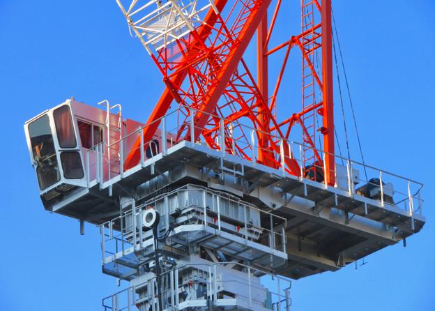 名古屋栄の建設現場に設置されてる巨大クレーン - 3