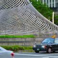 撤去予定の名駅ロータリーのオブジェ「飛翔」(2019年8月) - 2