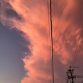 Photos: 犬山成田山へ向かう途中に見えた、下から湧き上がるように見えた赤い雲