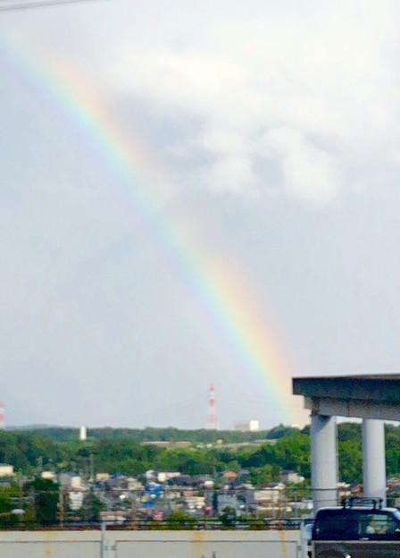 2重の虹が架かった、雨上がりの日(2019年8月14日) - 2