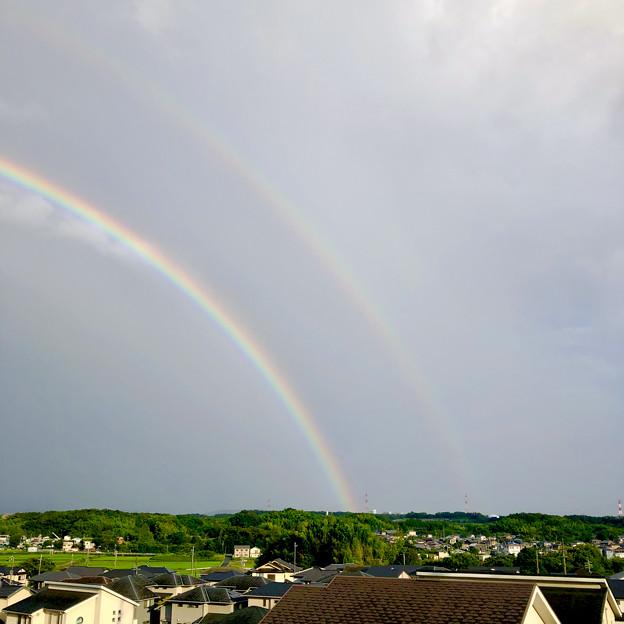 2重の虹が架かった、雨上がりの日(2019年8月14日) - 11