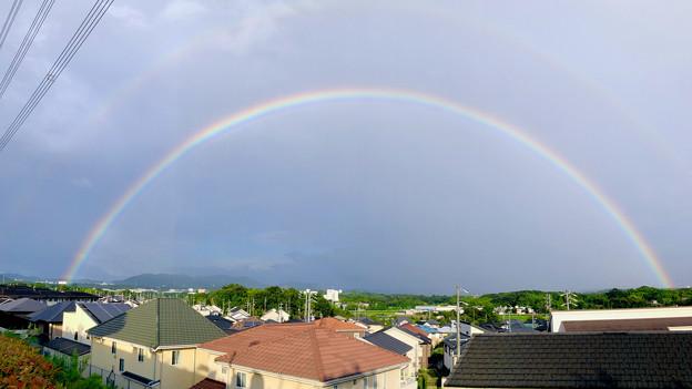 2重の虹が架かった、雨上がりの日(2019年8月14日) - 17:パノラマ