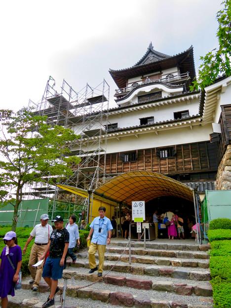 天守保蔵工事中の犬山城(2019年8月18日) - 7