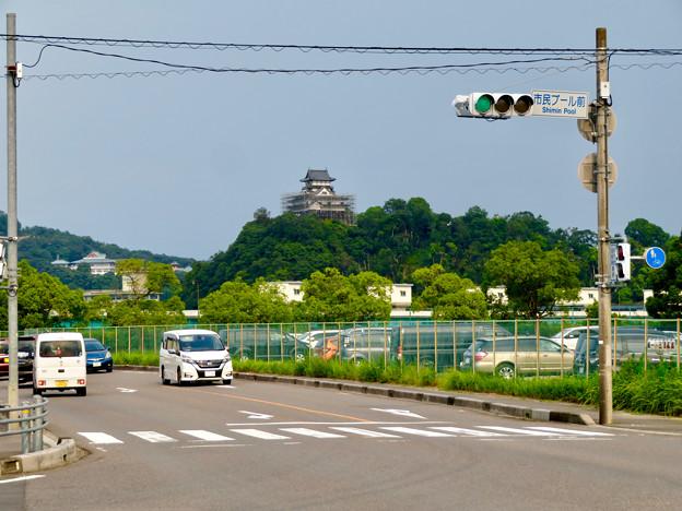 各務原市側から見た犬山城