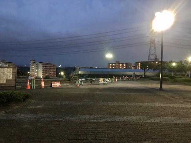 桃花台線の桃花台中央公園撤去工事(2019年8月22日):工事部分のフェンスが撤去 - 1