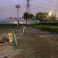 桃花台線の桃花台中央公園撤去工事(2019年8月22日):工事部分のフェンスが撤去 - 3