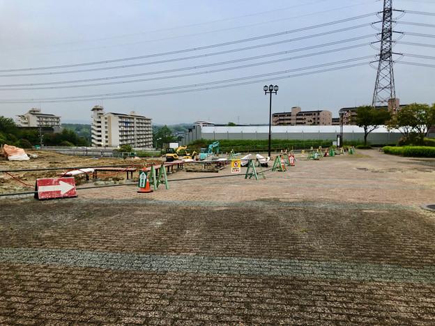 桃花台線の桃花台中央公園撤去工事(2019年8月23日):工事部分のフェンスが大部分撤去 - 1