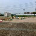 Photos: 桃花台線の桃花台中央公園撤去工事(2019年8月23日):工事部分のフェンスが大部分撤去 - 1