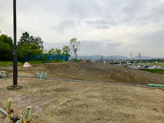 桃花台線の桃花台中央公園撤去工事(2019年8月23日):工事部分のフェンスが大部分撤去 - 8