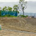 Photos: 桃花台線の桃花台中央公園撤去工事(2019年8月23日):工事部分のフェンスが大部分撤去 - 9