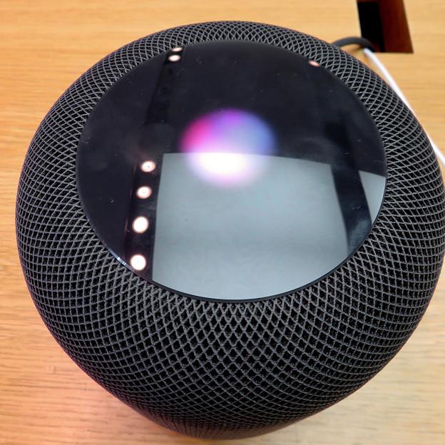 HomePod - 5:上部操作(Siri起動中)