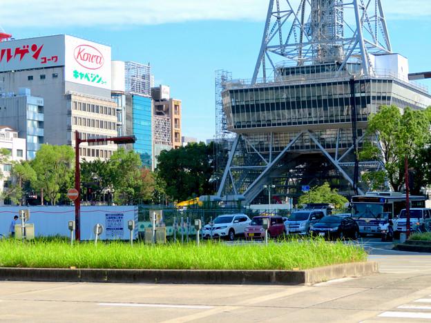 リニューアル工事中の久屋大通公園 名古屋テレビ塔周辺(2019年8月25日) - 2
