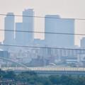 Photos: イオン守山店の屋上から見た景色 - 6:名駅ビル群と庄内川橋