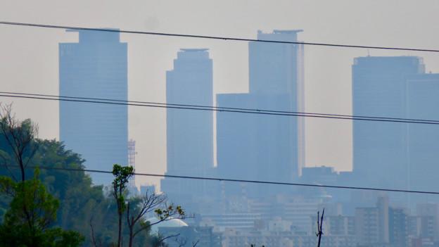 イオン守山店の屋上から見た景色 - 11:名駅ビル群