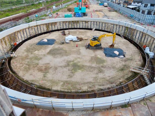 神領車両区近くに建設されてる丸い建造物(2019年9月2日) - 1