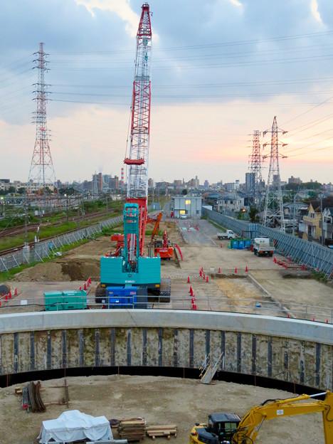 神領車両区近くに建設されてる丸い建造物(2019年9月2日) - 2