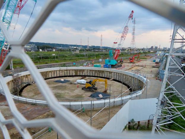 神領車両区近くに建設されてる丸い建造物(2019年9月2日) - 6