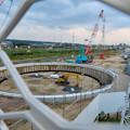 Photos: 神領車両区近くに建設されてる丸い建造物(2019年9月2日) - 6
