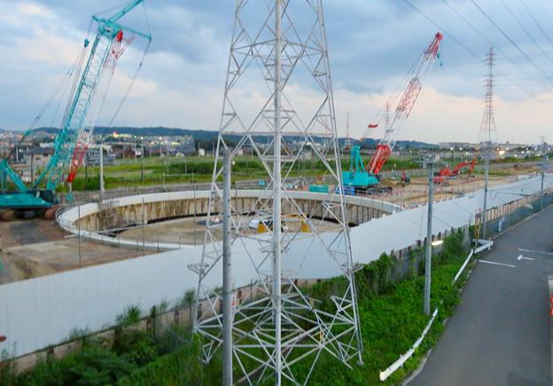 神領車両区近くに建設されてる丸い建造物(2019年9月2日) - 7