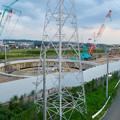Photos: 神領車両区近くに建設されてる丸い建造物(2019年9月2日) - 7