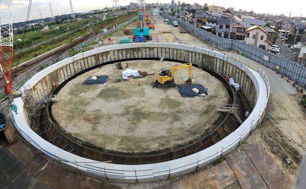 神領車両区近くに建設されてる丸い建造物(2019年9月2日) - 8:パノラマ