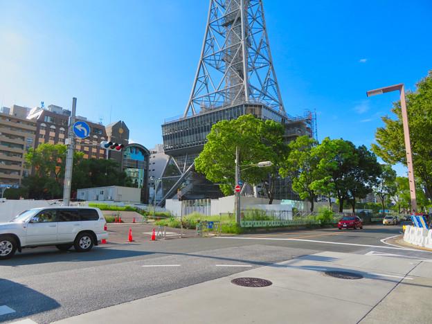 リニューアル工事中の名古屋テレビ塔(2019年9月7日) - 2