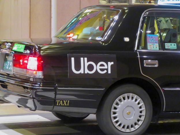 フジタクシーグループのタクシーに社会的有害企業「Uber」の文字 - 2