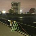Photos: 桃花台線の桃花台中央公園撤去工事(2019年9月11日):車両基地に入る部分だった撤去場所の舗装 - 3