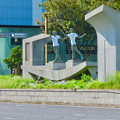 錦通と久屋大通公園の噴水上彫像に「あいちヒトリエンナーレ」と書かれたTシャツが着せられる!? - 23
