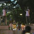 Photos: 錦通と久屋大通公園の噴水上彫像に「あいちヒトリエンナーレ」と書かれたTシャツが着せられる!? - 26