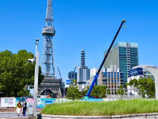 Photos: リニューアル工事中の久屋大通公園名古屋テレビ塔付近(2019年9月16日) - 1