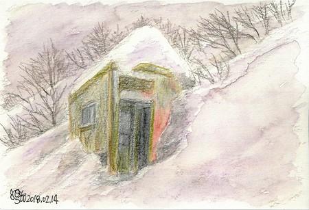 20180214大山六合小屋