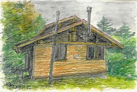 20181122シラサ避難小屋