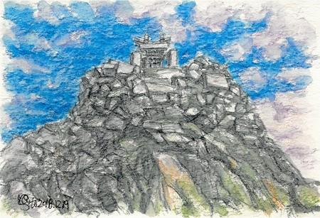 20181219奥穂高岳山頂